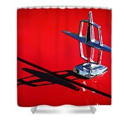 1967 Lincoln Continental Hood Ornament -1204c Shower Curtain