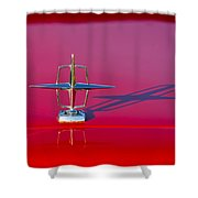 1967 Lincoln Continental Hood Ornament -158c Shower Curtain