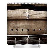 1967 Lincoln Continental Hood Ornament - Emblem Shower Curtain