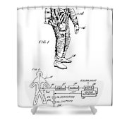 1967 Nasa Astronaut Ventilated Space Suit Patent Art 3 Shower Curtain