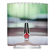 1967 Plymouth Belvedere Gtx Hood Ornament -1013c Shower Curtain