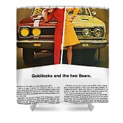 1967 Plymouth Gtx - Goldilocks And The Two Bears. Shower Curtain