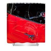 1967 Pontiac Firebird Steering Wheel Emblem Shower Curtain