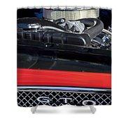 1967 Pontiac Gto Engine Emblem Shower Curtain