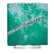 1967 Volkswagen Vw Bug Emblem Shower Curtain