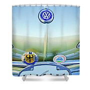 1967 Volkswagen Vw Karmann Ghia Hood Emblem Shower Curtain