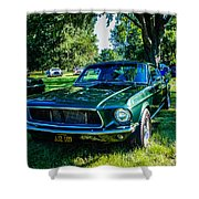 1968 Bullitt Mustang Shower Curtain