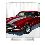 1968 Camaro Ss 350 Shower Curtain