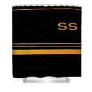 1968 Camaro Ss Front End Closeup  Shower Curtain
