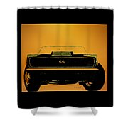 1968 Camaro Ss Head On Shower Curtain