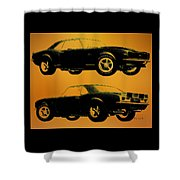 1968 Camaro Ss Side View Shower Curtain