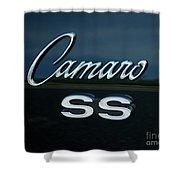 1968 Chevy Camaro Ss Logo Shower Curtain