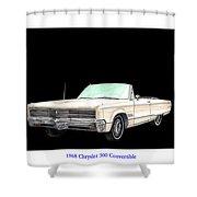 1968 Chrysler 300 Convertible Shower Curtain