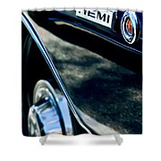 1968 Dodge Charger Rt Coupe 426 Hemi Upgrade Emblem Shower Curtain