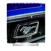 1968 Ford Mustang Cobra Gt 350 Grille Emblem Shower Curtain