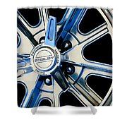 1968 Ford Mustang Fastback 427 Shelby Cobra Wheel Shower Curtain