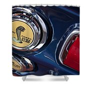 1968 Ford Mustang - Shelby Cobra Gt 350 Taillight And Gas Cap Shower Curtain