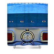 1968 Ford Shelby Gt500 Kr Convertible Rear Emblems Shower Curtain