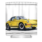 1968 Porsche Targa Shower Curtain