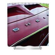 1968 Shelby Gt350 Hood Emblem Shower Curtain