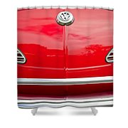 1968 Volkswagen Karmann Ghia Convertible Hood Emblem Shower Curtain