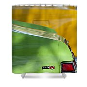 1969 Amc Javelin Sst Taillight Emblem Shower Curtain