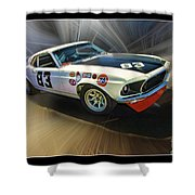 1969 Boss 302 Mustang Shower Curtain