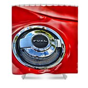 1969 Charger Fuel Cap Shower Curtain