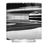1969 Chevrolet Camaro 427 Hood Emblem - 0879bw Shower Curtain