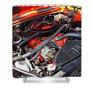 1969 Chevrolet Camaro Rs - Orange - 350 Engine - 7567 Shower Curtain