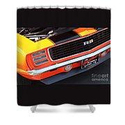 1969 Chevrolet Camaro Rs - Orange - Front End 7550 Shower Curtain