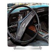 1969 Chevrolet Camaro Rs - Orange - Interior - 7601 Shower Curtain