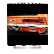 1969 Chevrolet Camaro Rs - Orange - Rear End - 7609 Shower Curtain