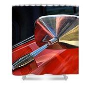 1969 Chevrolet Camaro Rs - Orange - Side Mirror - 7588 Shower Curtain
