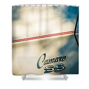1969 Chevrolet Camaro Rs-ss Indy Pace Car Replica Side Emblem Shower Curtain