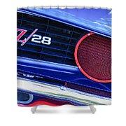 1969 Chevrolet Camaro Z28 Grille Emblem Shower Curtain