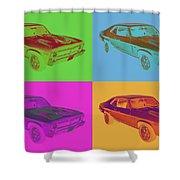 1969 Chevrolet Nova Yenko 427 Muscle Car Pop Art Shower Curtain