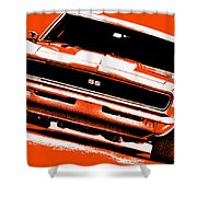 1969 Chevy Camaro Ss - Orange Shower Curtain