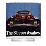 1969 Chevy Nova Ss - The Sleeper Awakes Shower Curtain