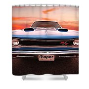 1969 Dodge Coronet R/t In B5 Blue Shower Curtain