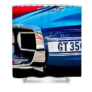 1969 Ford Mustang Shelby Gt350 Grille Emblem Shower Curtain