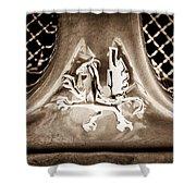 1969 Iso Grifo Emblem Shower Curtain