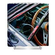 1969 Lamborghini Islero Steering Wheel Emblem Shower Curtain