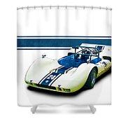 1969 Mrc Mkii Repco Brabham Shower Curtain