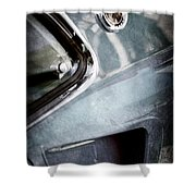 1969 Mustang Mach 1 Emblem Shower Curtain