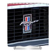 1969 Mustang Mach 1 Grille Emblem Shower Curtain
