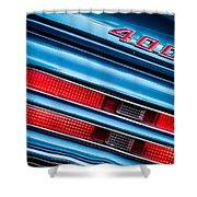 1969 Pontiac 400 Firebird Convertible Taillight Emblem -0029c Shower Curtain