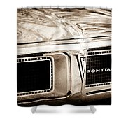 1969 Pontiac Firebird 400 Grille Emblem Shower Curtain