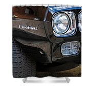 1969 Pontiac Firebird 400 Side Emblem Shower Curtain