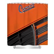 1969 Rs-ss Chevrolet Camaro Grille Emblem Shower Curtain